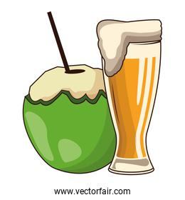 coconut cocktail with beer