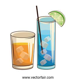 glasses with cocktail