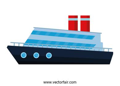 Commercial cruiseship vacation leisure trip isolated