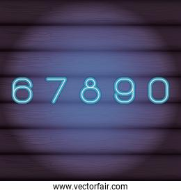 numbers font neon