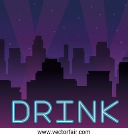 drink neon advertising