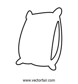 soft pillow cartoon in black and white