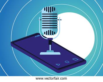 microphone over a cellphone