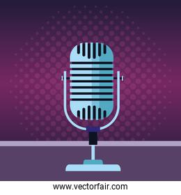 microphone icon cartoon