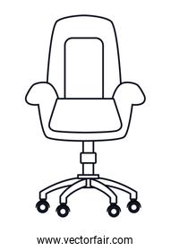 office chair icon black and white