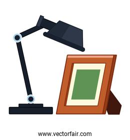 desk lamp with photo frame