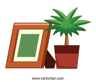 photo frame and decorative plant