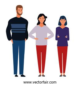 group of people avatar cartoon character