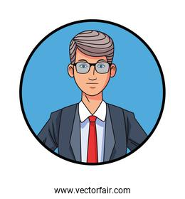 businessman avatar cartoon character profile picture