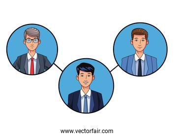businessmen avatar profile picture in round icons