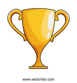 trophy cup icon cartoon isolated