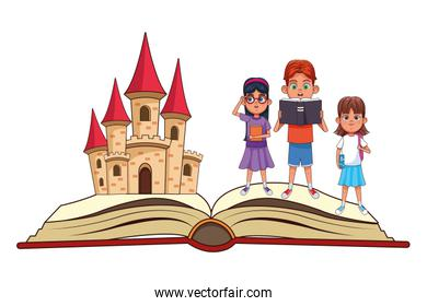 fantasy book with stories character