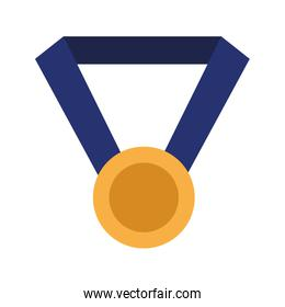 golden medal icon cartoon isolated