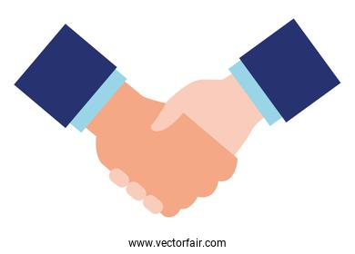 business handshake icon cartoon isolated