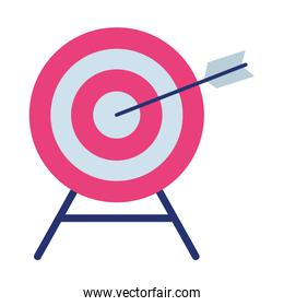 target with a arrow on middle