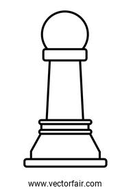 chess piece icon cartoon isolated black and white