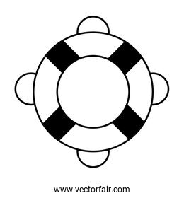 striped red and white lifebuoy black and white