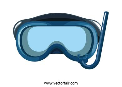 Diving mask equipment cartoon isolated