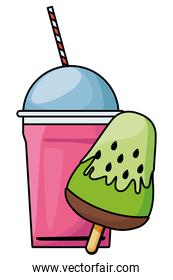 delicious ice lolly icon cartoon and frozen ice shaved