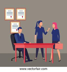business people avatars cartoon character