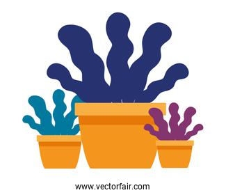 business plant pots icon vector illustrator