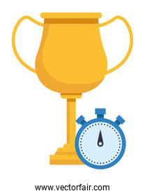 trophy cup award icon cartoon
