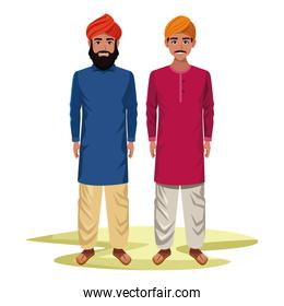 indian men avatar cartoon character