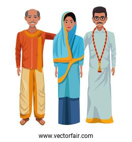 group of indian people avatar