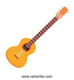 guitar acoustic icon cartoon isolated
