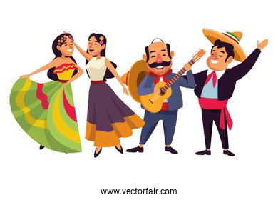 mexican traditional culture icon cartoon