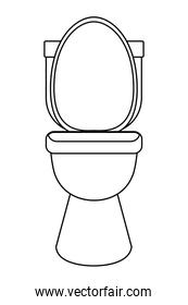 restroom toilet sanitary icon cartoon in black and white