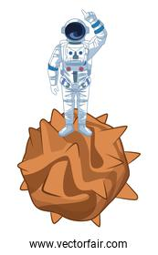Astronaut space exploration cartoons isolated