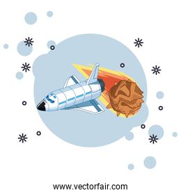 space exploration and planets cartoon