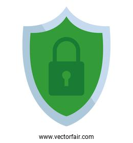 shield and padlock internet security