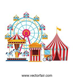 amusement park and circus fun
