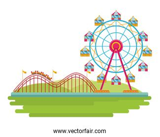 amusement park and fun day