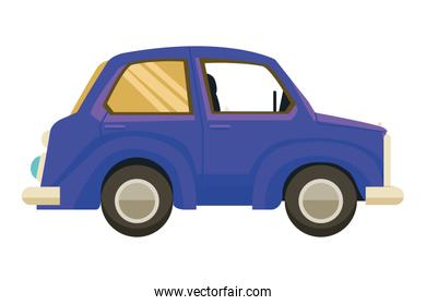 Vintage classic car sideview cartoon