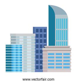 Office buildings and skyscraper real estates