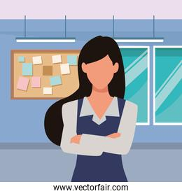 Executive businesswoman with crossed arms