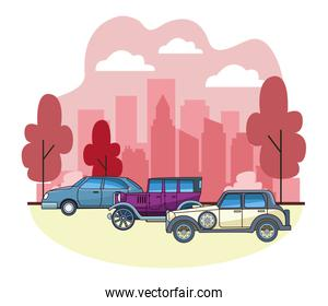 Vintage and classic cars vehicles