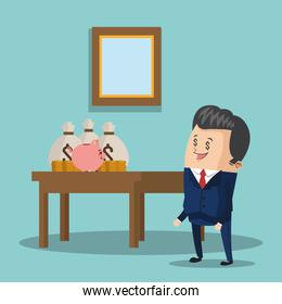 business people , vector illustration