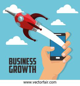 Business growth design , vector illustration