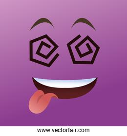 Cartoon face design , vector illustration