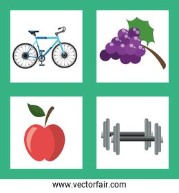 Healthy lifestyle design , vector illustration