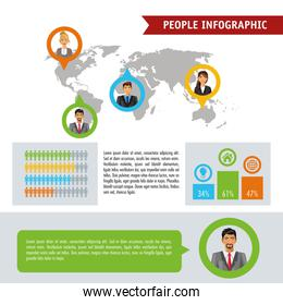 People infographic design