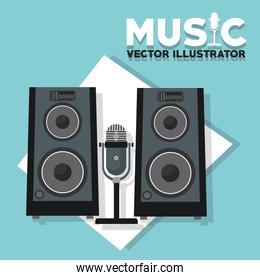 Speaker, sound concept, vector illustration