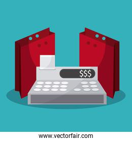cash register design, Vector illustration