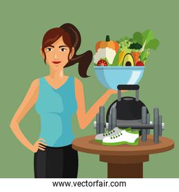 Icon of Healthy Lifestyle design, vector illustration