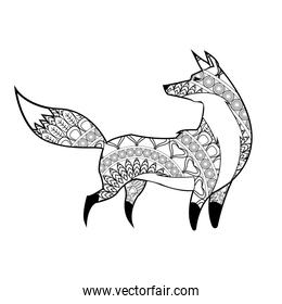 Animal design. Adult coloring concept. white background