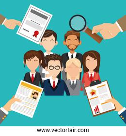 Human resources design. People icon. Colorful illustration